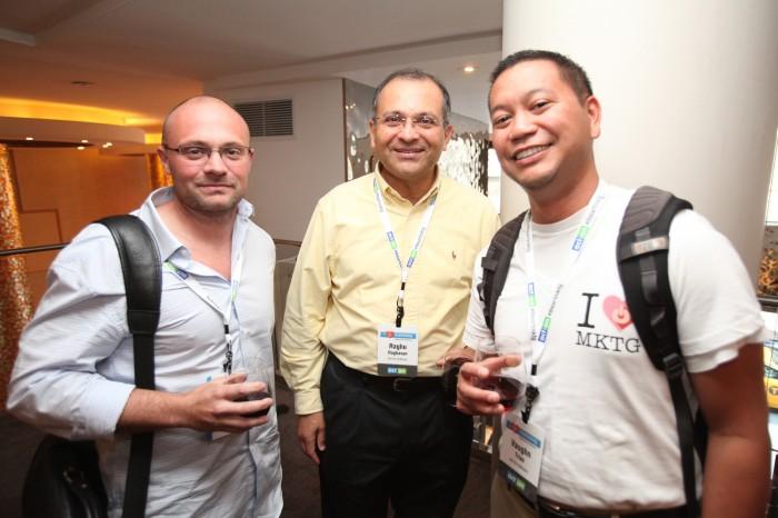 Shawn Cordner of In2itive Marketing; Raghu Raghavan and Vaughn Trias of Act-On