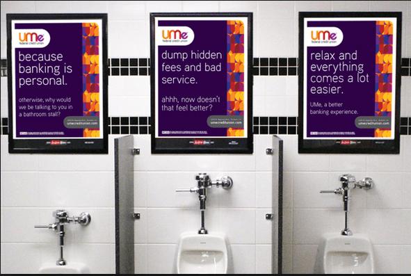 restroom advertising