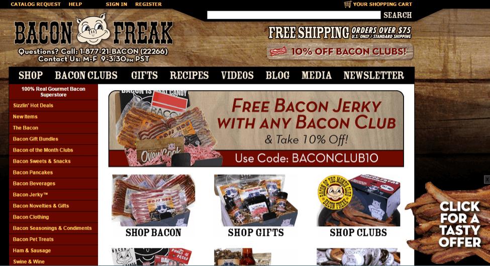 Bacon Freak side tab