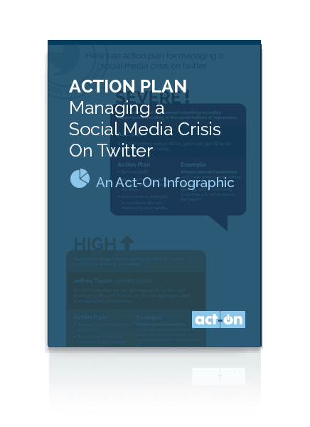 Act-On Infographic: Action Plan for Managing a Social Media Crisis on Twitter